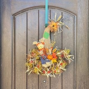 Scarecrow's Fall Hat - Harvest Wreath